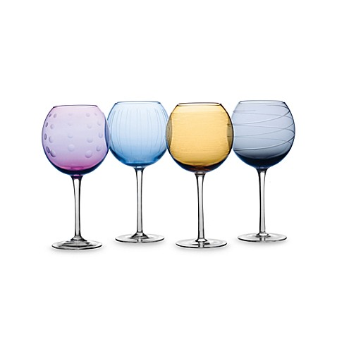 Colored Balloon Wine Glasses