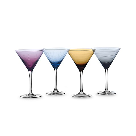 Mikasa® Cheers Color Martini Glasses in Assorted Colors (Set of 4)