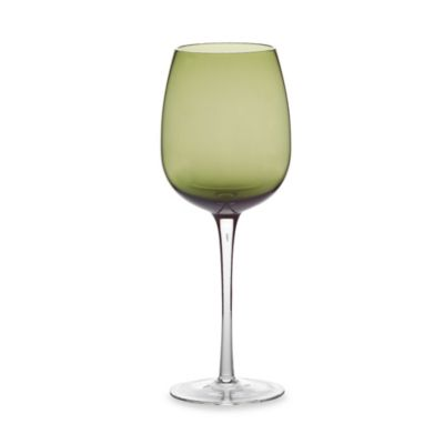 Green Luster 18.5-Ounce White Wine Glass (Set of 4)