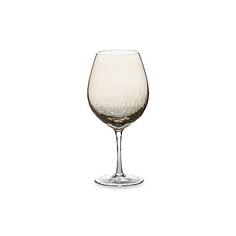 Crackle Amber Luster 18-Ounce Red Wine Glass (Set of 4)