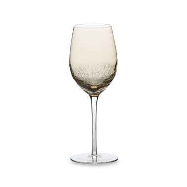 Crackle Amber Luster 16-Ounce White Wine (Set of 4)