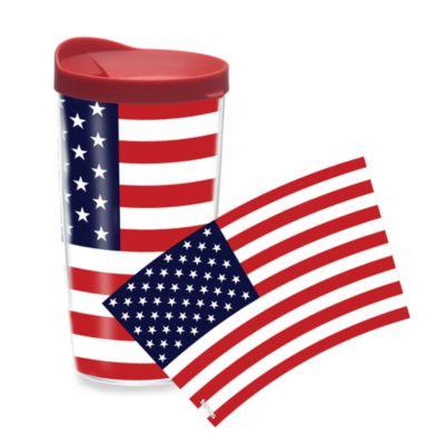 American Flag Wrap 16-Ounce Tumbler