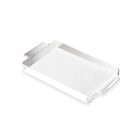 Kraftware™ Fishnet Lucite Handled Gallery Tray in White