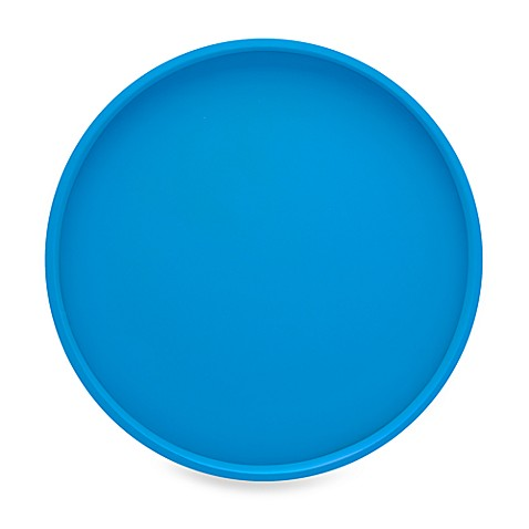 Kraftware™ Bartender's Choice 14-Inch Round Serving Tray in Blue