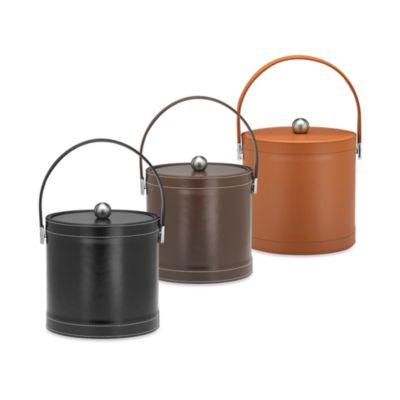 Kraftware™ 3-Quart Stitch Ice Bucket in Black