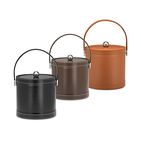 KraftWare™ Stitch 3-Quart Ice Bucket - Saddle Brown