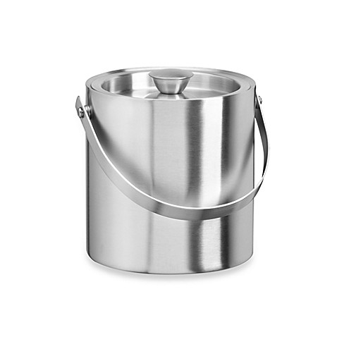 KraftWare™ Stainless Steel 1.5-Quart Insulated Ice Bucket - Polished