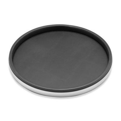 Kraftware™ Sophisticates Deluxe 14-Inch Serving Tray in Brushed Chrome Trim