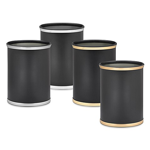 Kraftware™ Sophisticates Wastebasket in Black
