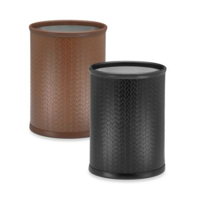 Kraftware™ San Remo 10-Inch Oval Wastebasket in Pinecone Brown