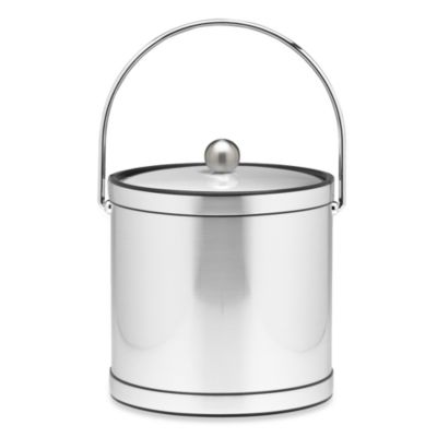 Kraftware™ Mylar Ice Bucket in Brushed Chrome