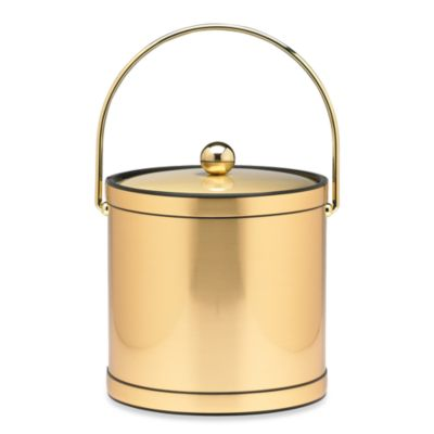 Kraftware™ Brushed Brass Mylar Ice Bucket
