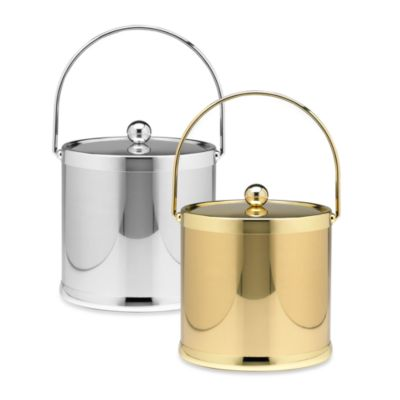 Kraftware™ Americano Ice Bucket with Bail Handle in Polished Brass