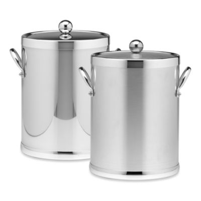 Kraftware™ Americano Chrome Ice Bucket with Side Handles