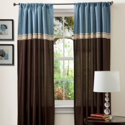 Essential Living Terra 84-Inch Window Curtain Panels in Black/Silver