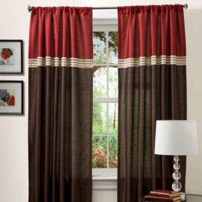 Buy Palais Royale Silk Amore 84 Inch Window Panel In Chocolate From Bed Bath Beyond