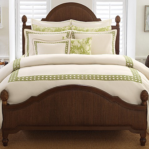 tommy bahama embroidered cane queen duvet cover lime green bed bath beyond. Black Bedroom Furniture Sets. Home Design Ideas