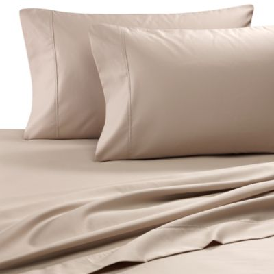 Easy-Care Solid King Sheet Set in Linen