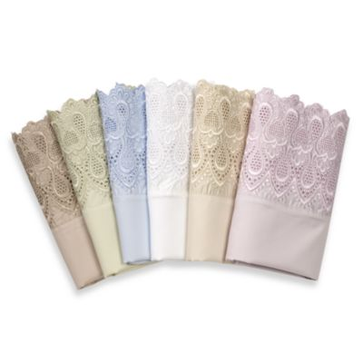 Easy-Care Lace King Sheet Set in Ivory