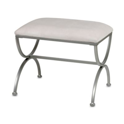 Madison Vanity Bench in Satin Nickel