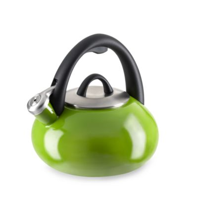 Calphalon® Enameled Steel 2-Quart Tea Kettle in Apple Green
