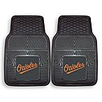 MLB Baltimore Orioles Vinyl Car Mats (Set of 2)