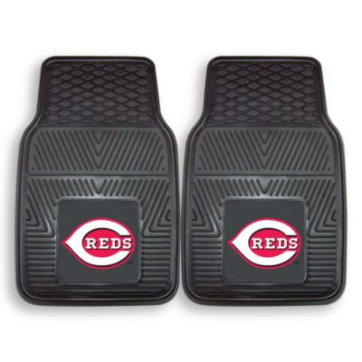 MLB Cincinnati Reds Vinyl Car Mats (Set of 2)