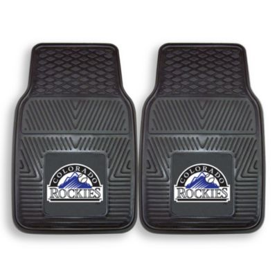 MLB Colorado Rockies Vinyl Car Mats (Set of 2)