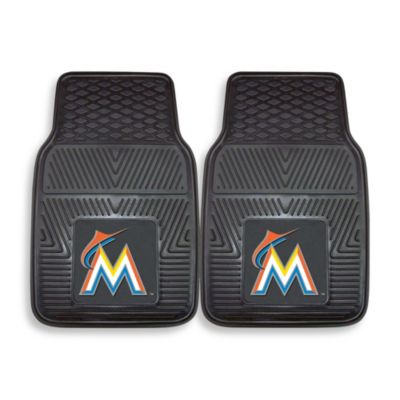 MLB Florida Marlins Vinyl Car Mats (Set of 2)