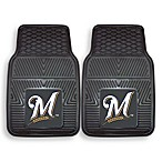 MLB Milwaukee Brewers Vinyl Car Mats (Set of 2)