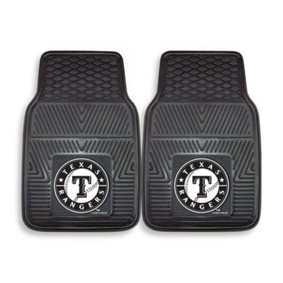 MLB Texas Rangers Vinyl Car Mats (Set of 2)