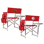 Picnic Time® Red Collegiate Folding Sports Chair