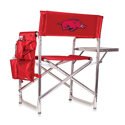 Picnic Time® University of Arkansas Collegiate Folding Sports Chair in Red