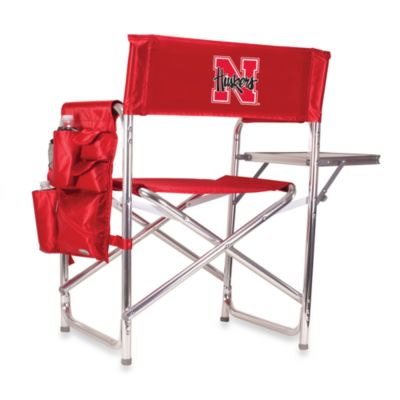 Picnic Time® University of Nebraska Collegiate Folding Sports Chair in Red