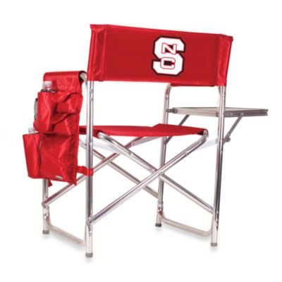 North Carolina State Picnic Time® Red Collegiate Folding Sports Chair