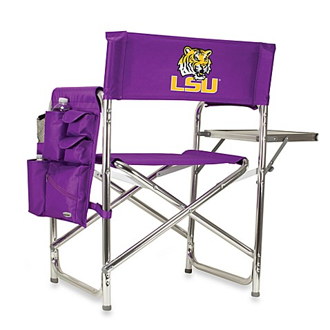 Picnic Time® Louisiana State Collegiate Folding Sports Chair in Red
