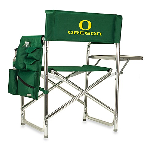 Picnic Time® University of Oregon Collegiate Folding Sports Chair in Green