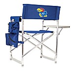 Picnic Time® University of Kansas Collegiate Folding Sports Chair in Navy Blue