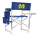 Picnic Time® University of Michigan Collegiate Folding Sports Chair in Navy Blue