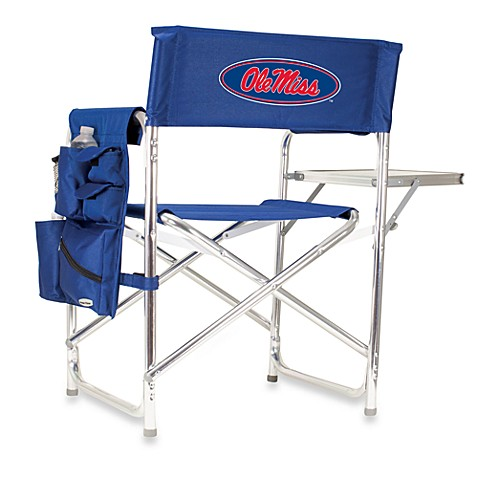 Picnic Time® University of Mississippi Collegiate Folding Sports Chair in Navy Blue