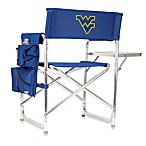 Picnic Time® West Virginia University Collegiate Folding Sports Chair in Navy Blue
