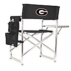Picnic Time® University of Georgia Collegiate Folding Sports Chair in Black