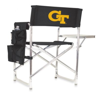 Picnic Time® Georgia Tech Collegiate Folding Sports Chair in Black