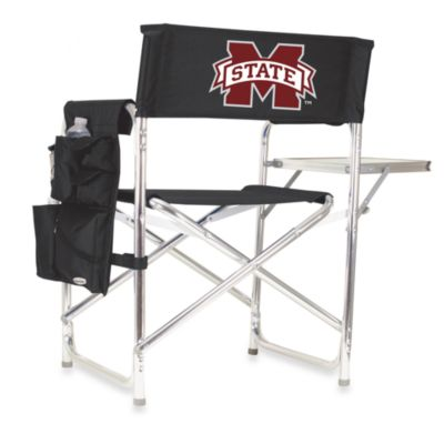 Picnic Time® Mississippi State Collegiate Folding Sports Chair in Black
