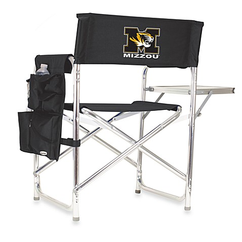 Picnic Time® University of Missouri Collegiate Folding Sports Chair in Black