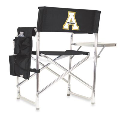 Picnic Time® Appalachian State Collegiate Folding Sports Chair in Black