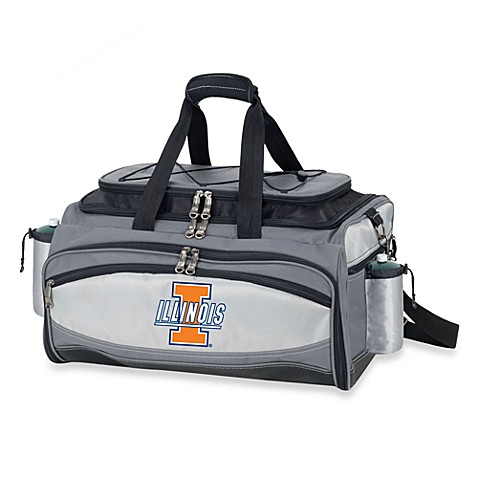 Picnic Time® Collegiate Vulcan BBQ & Cooler Set - University of Illinois