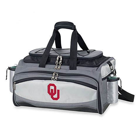 Picnic Time® Collegiate Vulcan BBQ & Cooler Set - University of Oklahoma