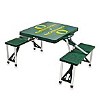 Picnic Time® University of Oregon Collegiate Foldable Table with Seats in Green