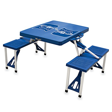 Picnic Time® Duke University Collegiate Foldable Table with Seats in Blue